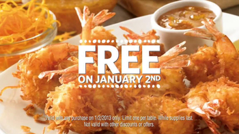 Outback Steakhouse TV Spot, 'Free Bloomin' Onion or Coconut Shrimp' - Thumbnail 8
