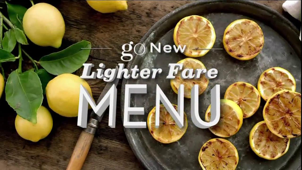 Olive Garden Lighter Fare Menu Tv Commercial 39 Go 39