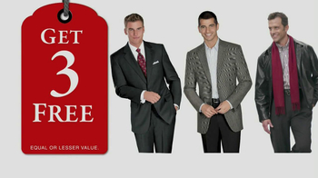 JoS. A. Bank TV Spot, 'Buy 1, Get 3 Free: Dec. 2012'