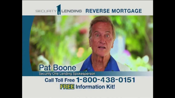 Security 1 Lending TV Spot Featuring Pat Boone