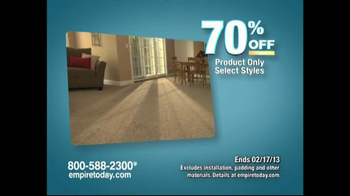 Empire Today Warehouse Sale Tv Commercial 70 On Carpet