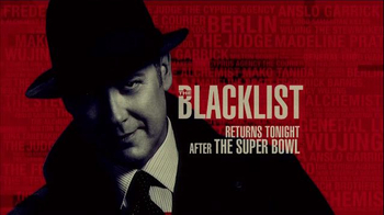 NBC: The Blacklist Half Time Super Bowl 2015 TV Promo