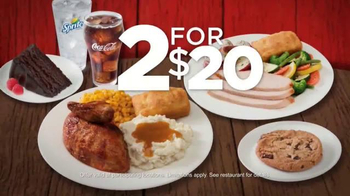 Boston Market 2 for $20 Complete Meal Deal TV Spot, 'Delicious Selections'