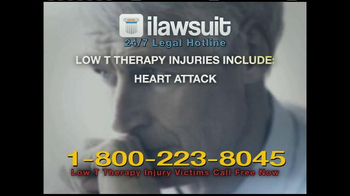 iLawsuit Legal Hotline TV Spot, \'Testosterone\'