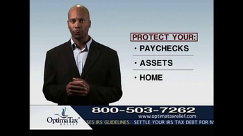 Optima Tax Relief TV Commercial, 39;Protection From the IRS39;  iSpot.tv
