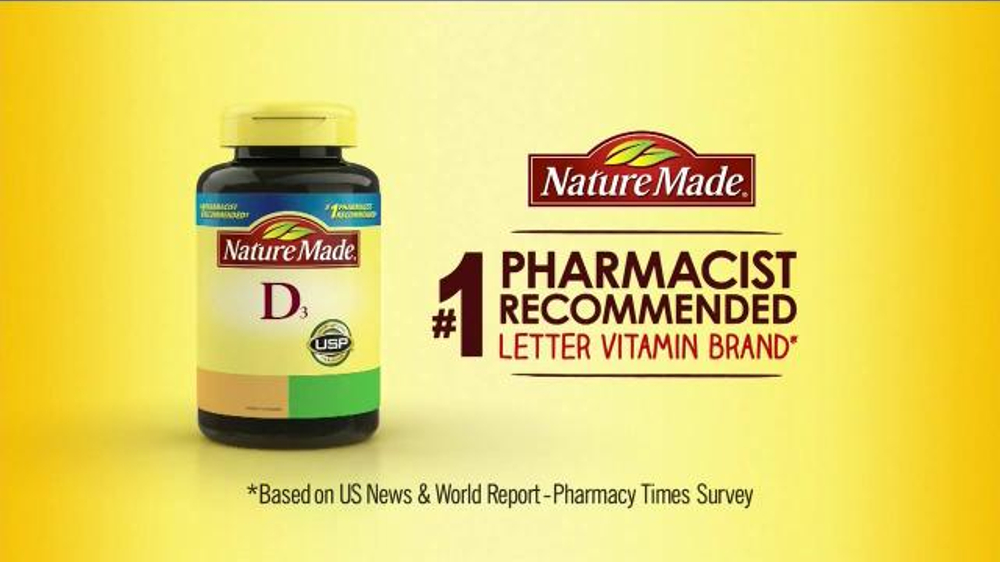 * Based on a survey of pharmacists who recommend branded vitamins and supplements. Nature Made may make changes to products from time to time. Please consult the label on the product that you purchased for the most accurate product information.
