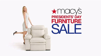 Macy\'s Presidents Day Furniture Sale TV Spot, \'Furniture for Every Room\'