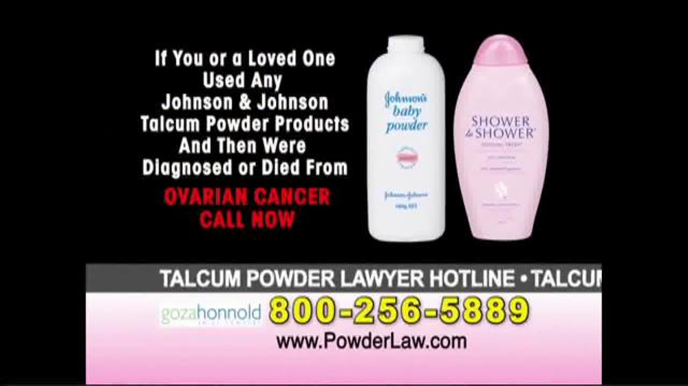 Goza Honnold Trial Lawyers Tv Commercial Talcum Powder
