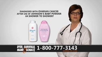 Dyer, Garofalo, Mann & Schultz TV Spot, 'Links to Ovarian Cancer'