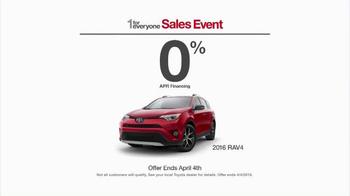 Toyota 1 for Everyone Sales Event TV Spot, 'Posse: 2016 RAV4' - Thumbnail 5