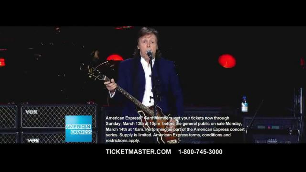 Ticketmaster tv commercial 39 paul mccartney one on one - Paul mccartney madison square garden tickets ...