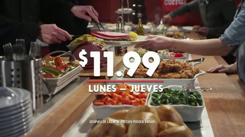 Golden Corral Fresh Fire Grill TV Spot, 'Lunes a jueves' [Spanish]