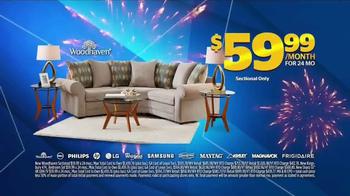 Aaron's Anniversary Sale TV Spot, 'Sectional, Bedroom & TV'