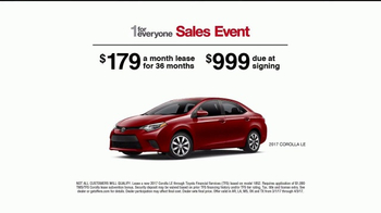 Toyota 1 for Everyone Sales Event TV Spot, 'Safety in the Corolla' - Thumbnail 3