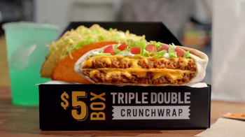 Taco Bell Triple Double Crunchwrap Box TV Spot, 'Está de vuelta' [Spanish]