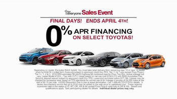 Toyota 1 for Everyone Sales Event TV Spot, 'Final Days: Posse' - Thumbnail 7