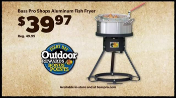 Bass pro shops tv commercial 39 men 39 s under armour fish for Bass pro fish fryer