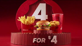 Wendy's 4 for $4 Meal TV Spot, 'Even Bigger News' - 8829 commercial airings
