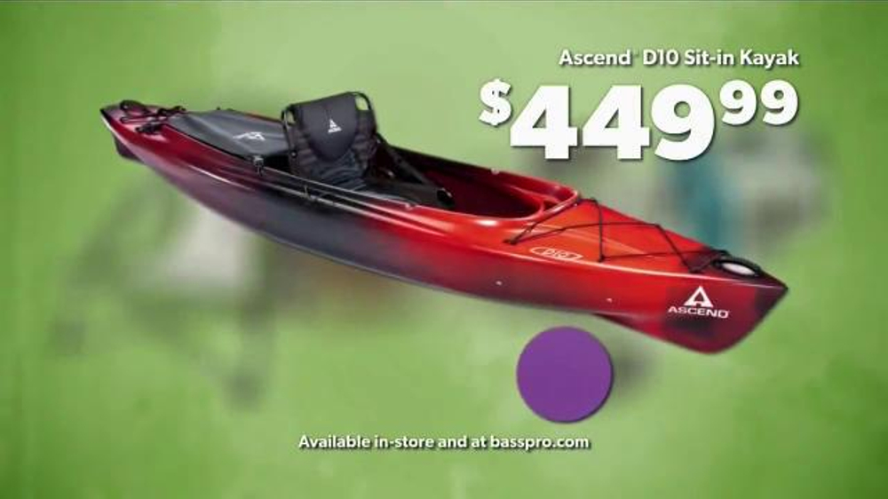 Bass pro shops workender event and sale tv commercial for Bass pro shop fishing kayaks