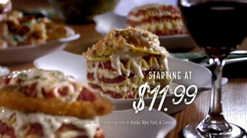 Olive Garden Lasagnas TV Spot, 'Layer on the Love' - 6635 commercial airings