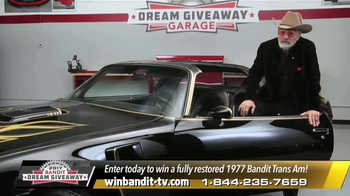 Bandit Dream Giveaway TV Spot, '1977 Bandit Trans Am' Feat. Burt Reynolds