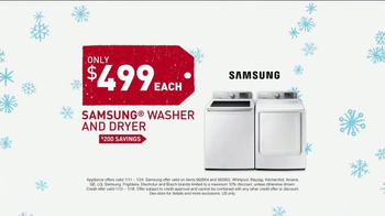 Lowe's Winter Savings Event TV Spot, 'Washer and Dryer Set'