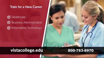 Vista College TV Spot, 'Train for a New Career'
