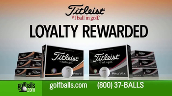 Golfballs.com TV Spot, 'Free Personalization: Titleist'