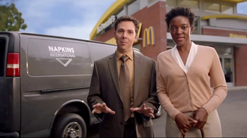 McDonald's Quarter Pounder Burgers TV Spot, 'Napkins International'