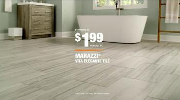 The Home Depot TV Spot, 'Marazzi Vita Elegante Tile'