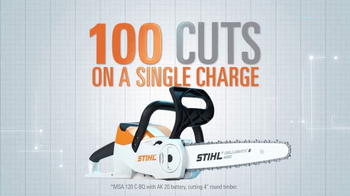 STIHL Lightning Battery System TV Spot, 'Chainsaw'
