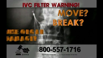 Pulaski Law Firm >> IVC Filter Justice TV Commercial, 'Serious Complications ...