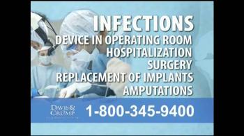 Davis & Crump, P.C. TV Spot, 'Replacement Infections'