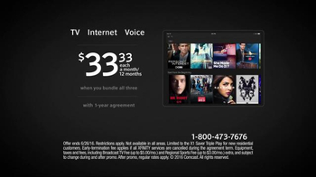 XFINITY Triple Play TV Spot, 'Bundle and Save'