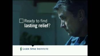 Laser Spine Institute TV Spot, 'Lasting Relief'