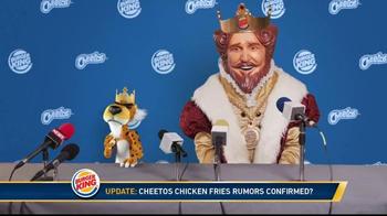 Burger King Cheetos Chicken Fries TV Spot, 'Announcement'