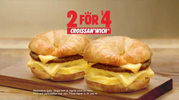 Burger King 2 for $4 Croissan'Wich TV Spot, 'Wake Up'