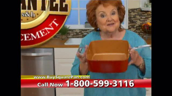 Red Copper Square Pan TV Spot, 'Double Cooking Space'