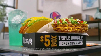Taco Bell Triple Double Crunchwrap $5 Box TV Spot, \'No Sides\'