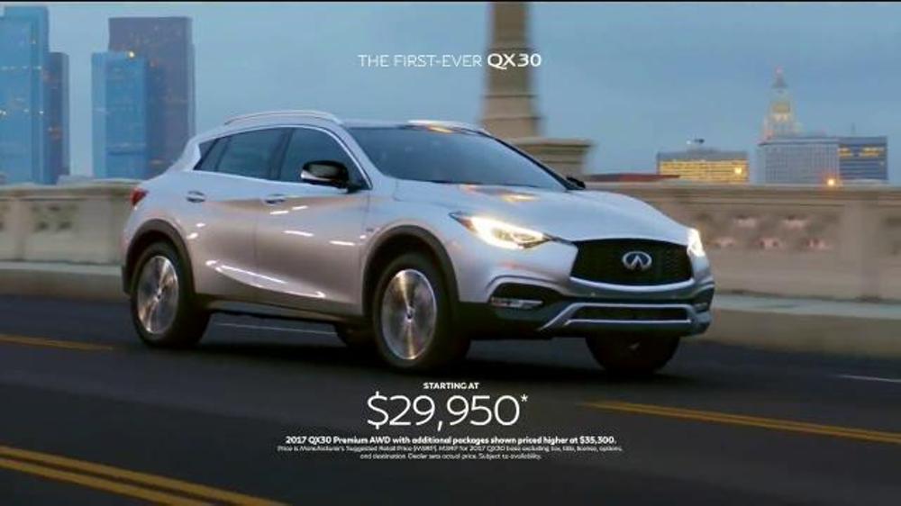 2017 Infiniti QX30 TV Commercial, 'Bold Drive' - iSpot.tv