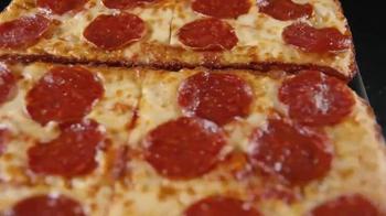 Little Caesars Pepperoni & Cheese Stuffed Crust Pizza TV Spot, 'Rewind' - Thumbnail 3