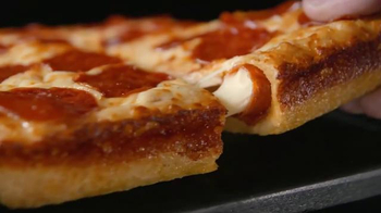 Little Caesars Pepperoni & Cheese Stuffed Crust Pizza TV Spot, 'Rewind' - Thumbnail 6
