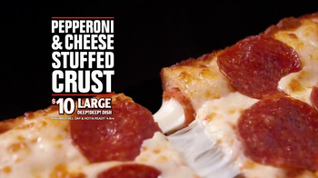 Little Caesars Pepperoni & Cheese Stuffed Crust Pizza TV Spot, 'Rewind'