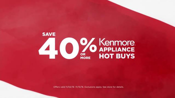 Sears Veterans Day Appliance Event TV Spot, 'Hot Buys' - Thumbnail 2