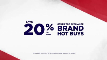 Sears Veterans Day Appliance Event TV Spot, 'Hot Buys' - Thumbnail 5
