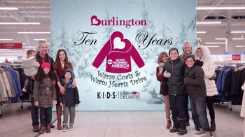 Burlington TV Spot, 'Celebrating 10 Years of Keeping Those in Need Warm!'