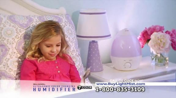 Bell + Howell Ultrasonic Color Changing Humidifier TV Spot, 'Soothing'