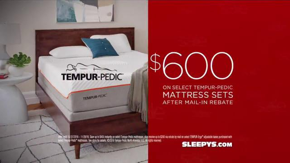 sale tv commercial u0027serta u0026 ispottv - Sleepys Bed Frame