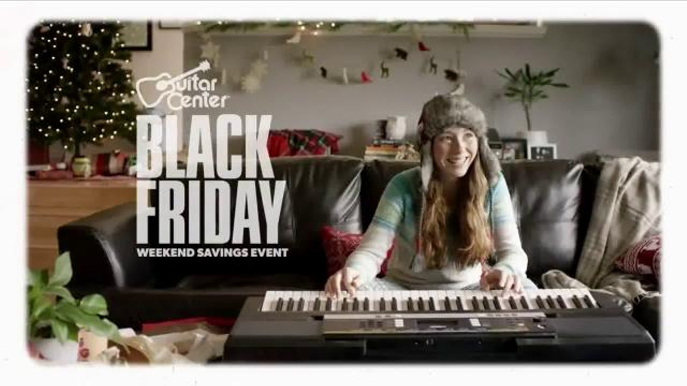 guitar center black friday weekend savings event tv commercial 39 music is a gift 39. Black Bedroom Furniture Sets. Home Design Ideas