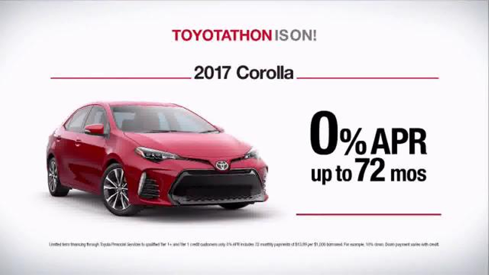 Toyota Toyotathon TV Commercial, 'Together With Corolla ...